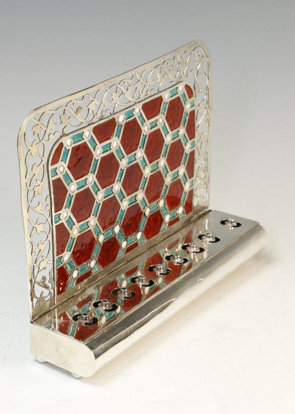 Amiel Silver and Glass Menorah from Jerusalem