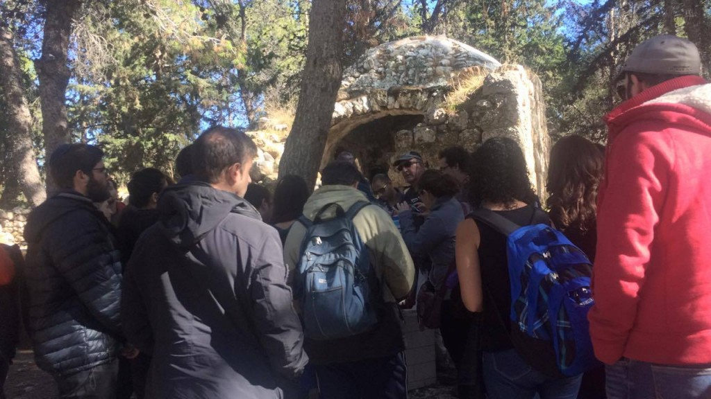 JNF Future Israel brings Tel Aviv to Modi'im to see the battle grounds of the Maccabean Wars the soldiers tombs. Photo by Shira Nussdorf
