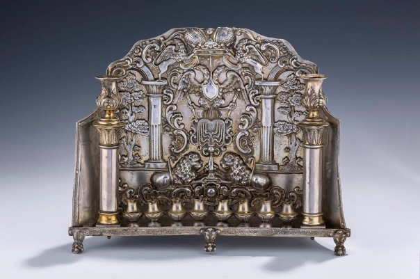 $250,000 Silver Menorah from Ukraine, circa 1840. A Menorah in Europe with Estimated Value of $15,000 Recently Went for $410,000, So What Will J. Greenstein and Company's Menorah Ultimately Sell For?