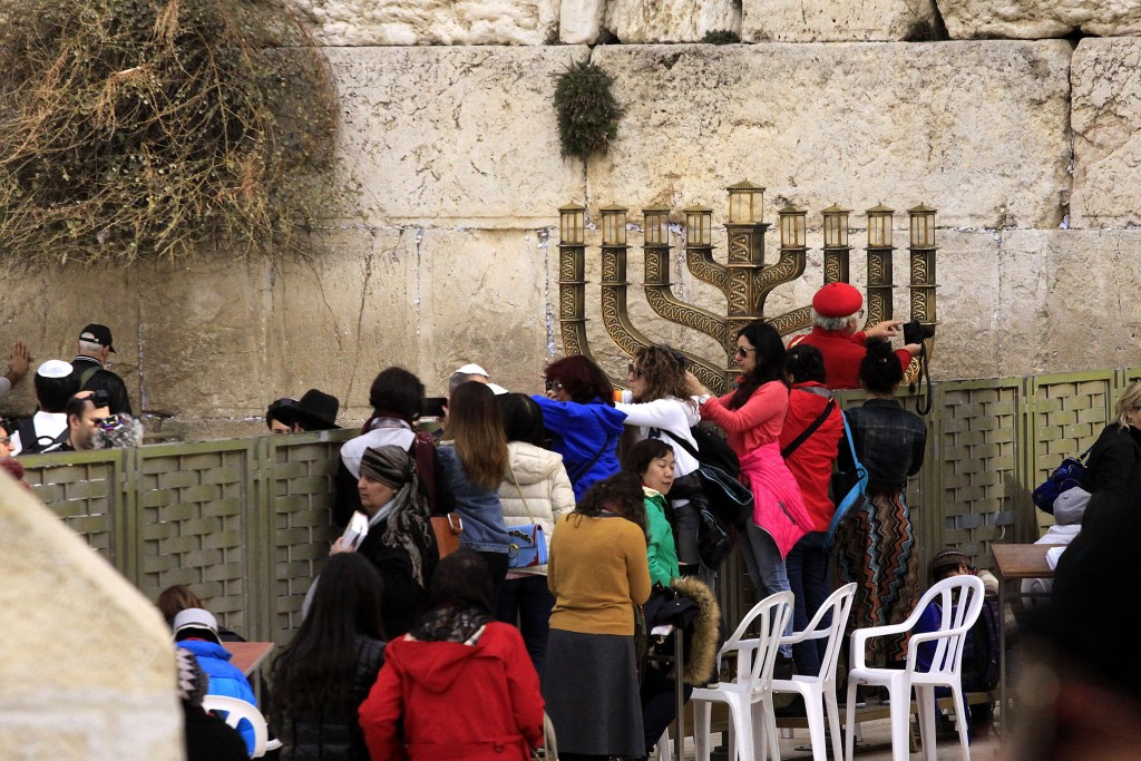 People from around the world gathering at the Western Wall. Photo by Janet Schwartz