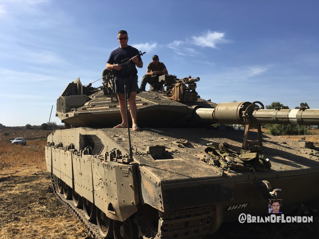 Tommy on a Merkava IV, Golan Heights, Israel - Photo: Brian of London