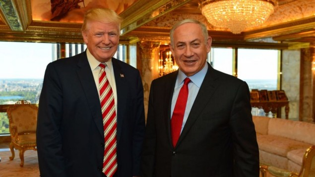 Prime Minister Benjamin Netanyahu and President-elect Donald Trump meeting at Trump Tower in New York, September 25, 2016. (Kobi Gideon/GPO)