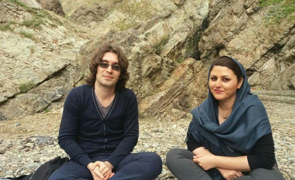 Arash Sadeghi and his wife Golrokh Iraee.