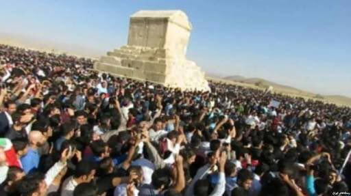 Several citizens gathered for Cyrus the Great Day in Pasargad, Iran on October 29, 2016.