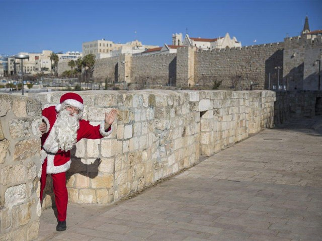 Santa in Jerusalem. (photo credit: Ministry of Tourism www.goisrael.com / Dafna Tal)
