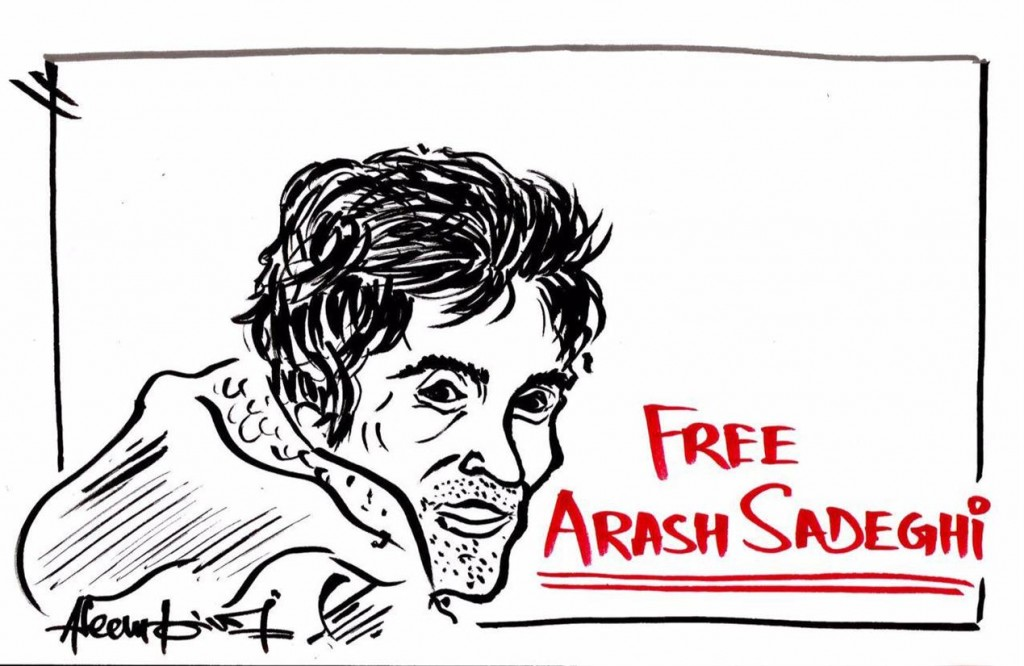 Cartoon by an Indian independent cartoonist Aseem Trivedi, who supports writers, bloggers, and human rights defenders facing harassment across the world through online cartoon magazine called Black & White.