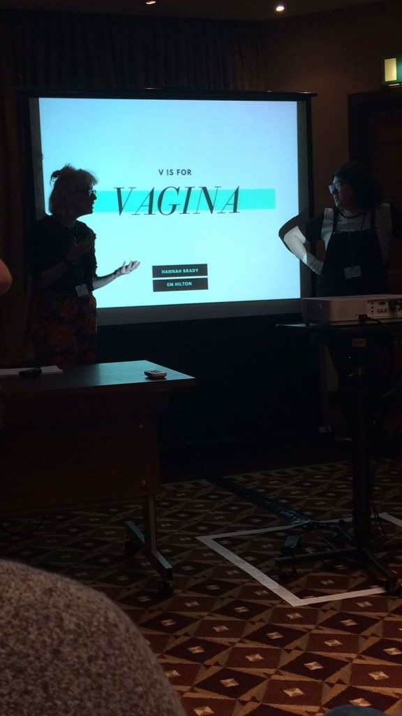 Myself and Hannah Brady presenting at Limmud Conference 2016
