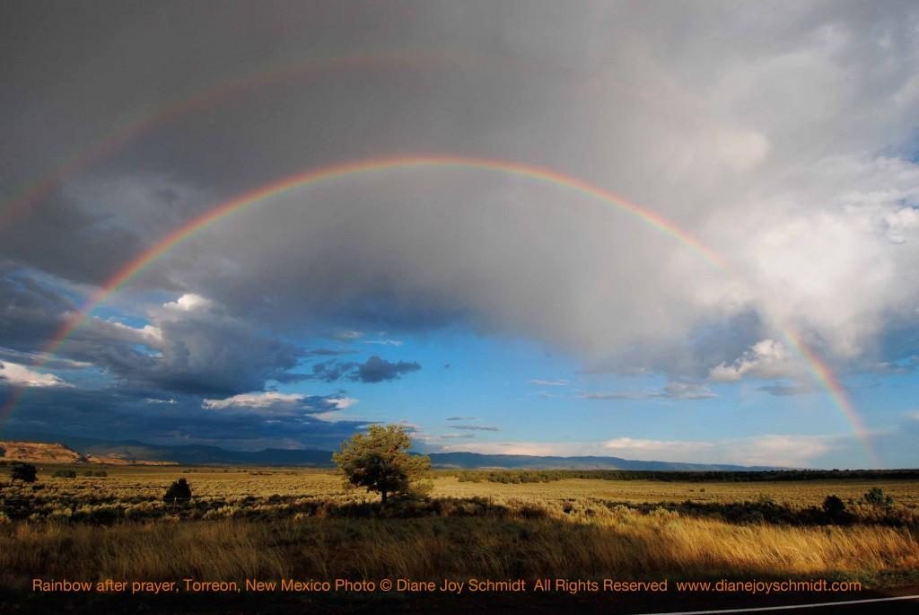Rainbow after Navajo prayer, New Mexico Photo © Diane Joy Schmidt www.dianejoyschmidt.com