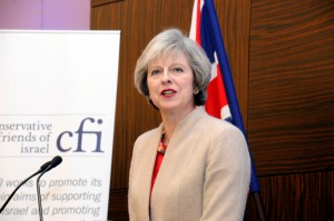 Theresa May addressing the CFI annual business lunch.