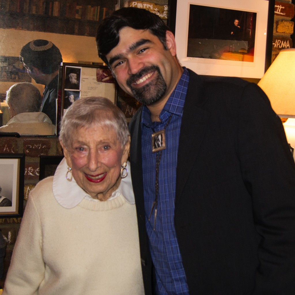 Leah Adler with the Author at The Milky Way Restaurant, March, 2014