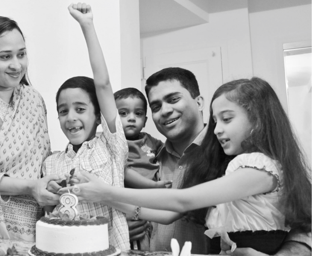 The family is celebrating Eklel's 8th birthday on July 01, 2013.