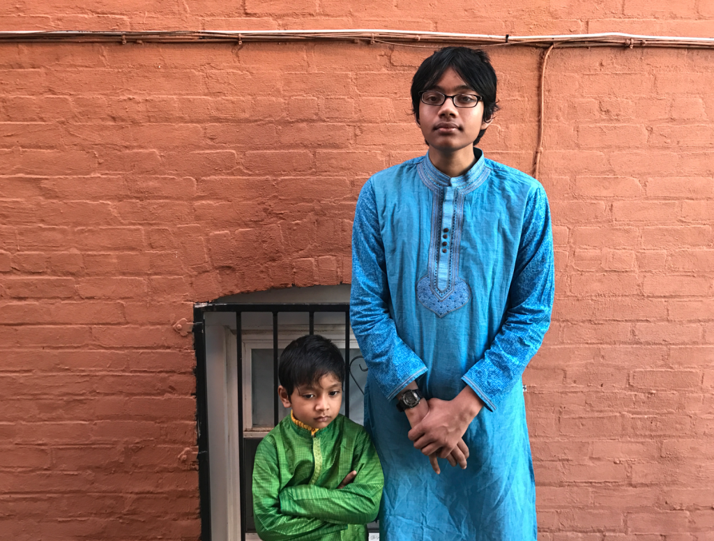 Refath Albert and Soborno Isaac in front of the Gleason Ave room which I rented in 2009 with the help of Zakir Khan.