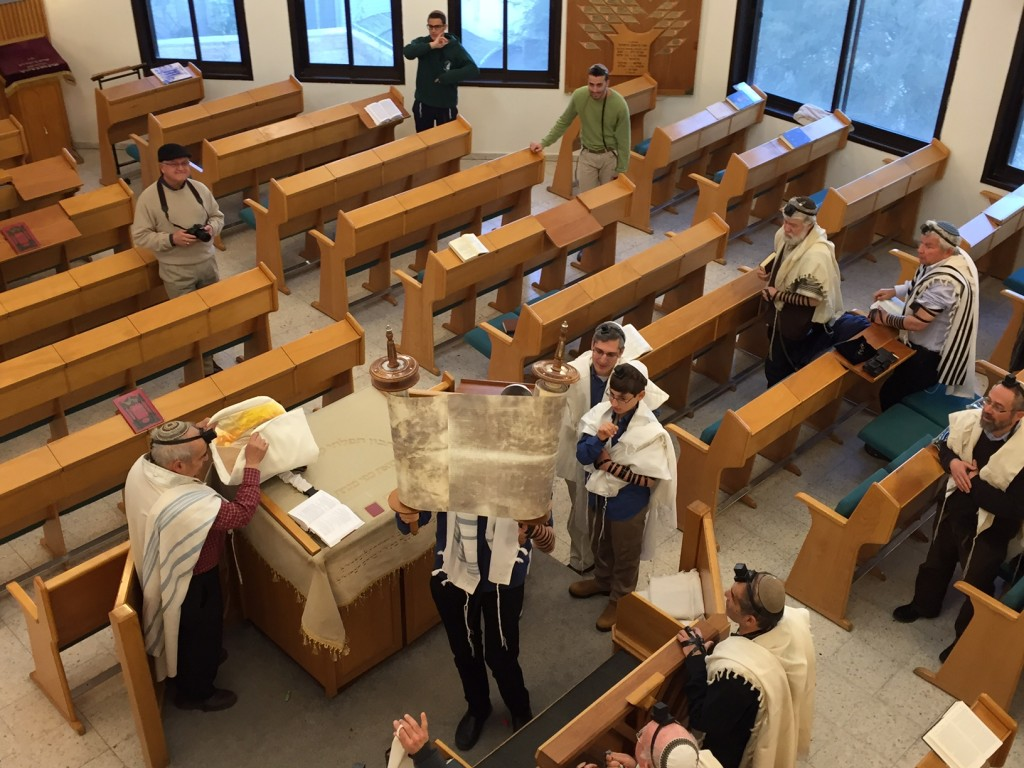 A weekday Torah reading gives Yair a 'dress rehearsal' for the Saturday main event.