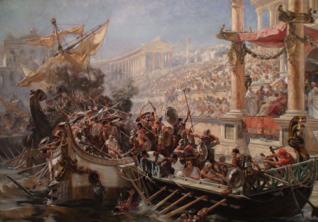 Roman Coliseum Naval Battles (Wikimedia Commons)