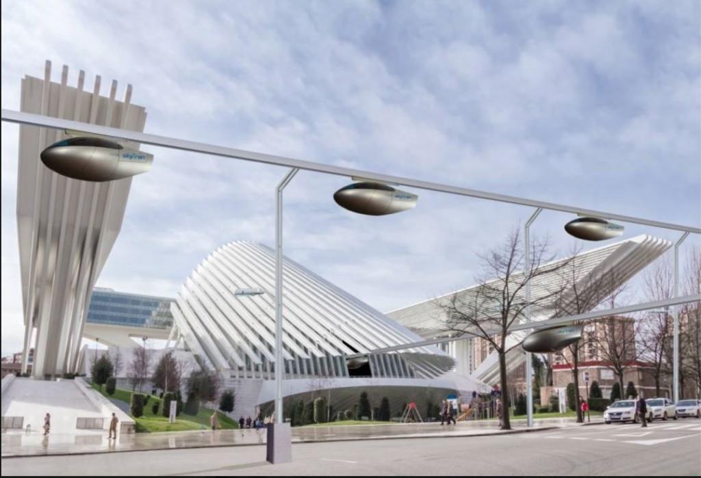 illustration: skytran in Hertzeliya