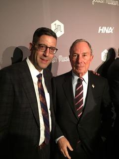 Jonathan Greenstein, himself a philanthropist, with mega-philanthropist and former NYC mayor, Michael Bloomberg.