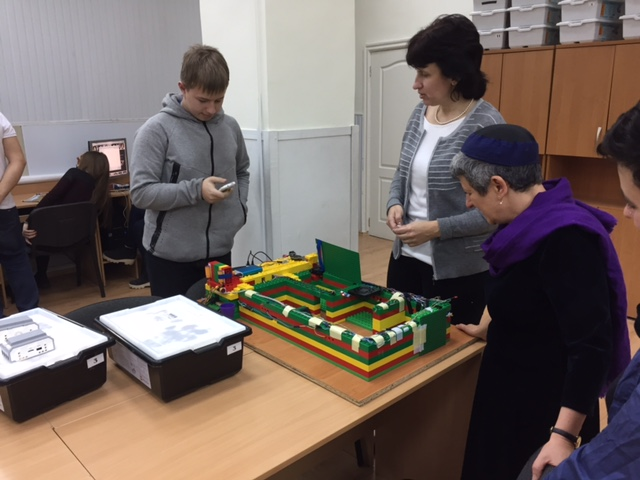 A robotics class at Odessa ORT school