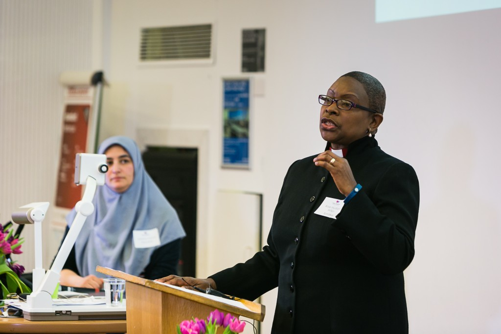Revered Rose Hudson-Wilkin addressing the conference. Photo credit: Yakir Zur