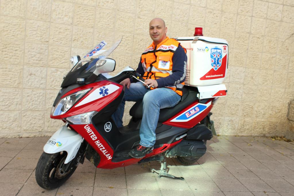 Roman Firas on his ambucycle