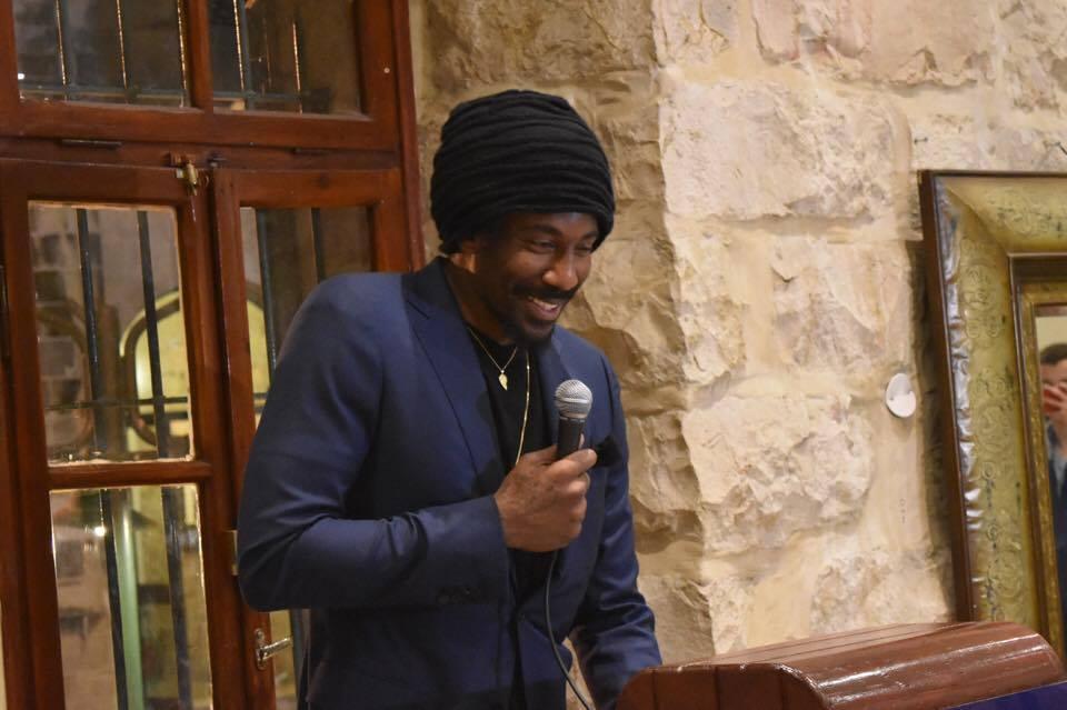 Amar'e Stoudemire receiving MLK Jr. award in Jerusalem Photo: Dov Halickman