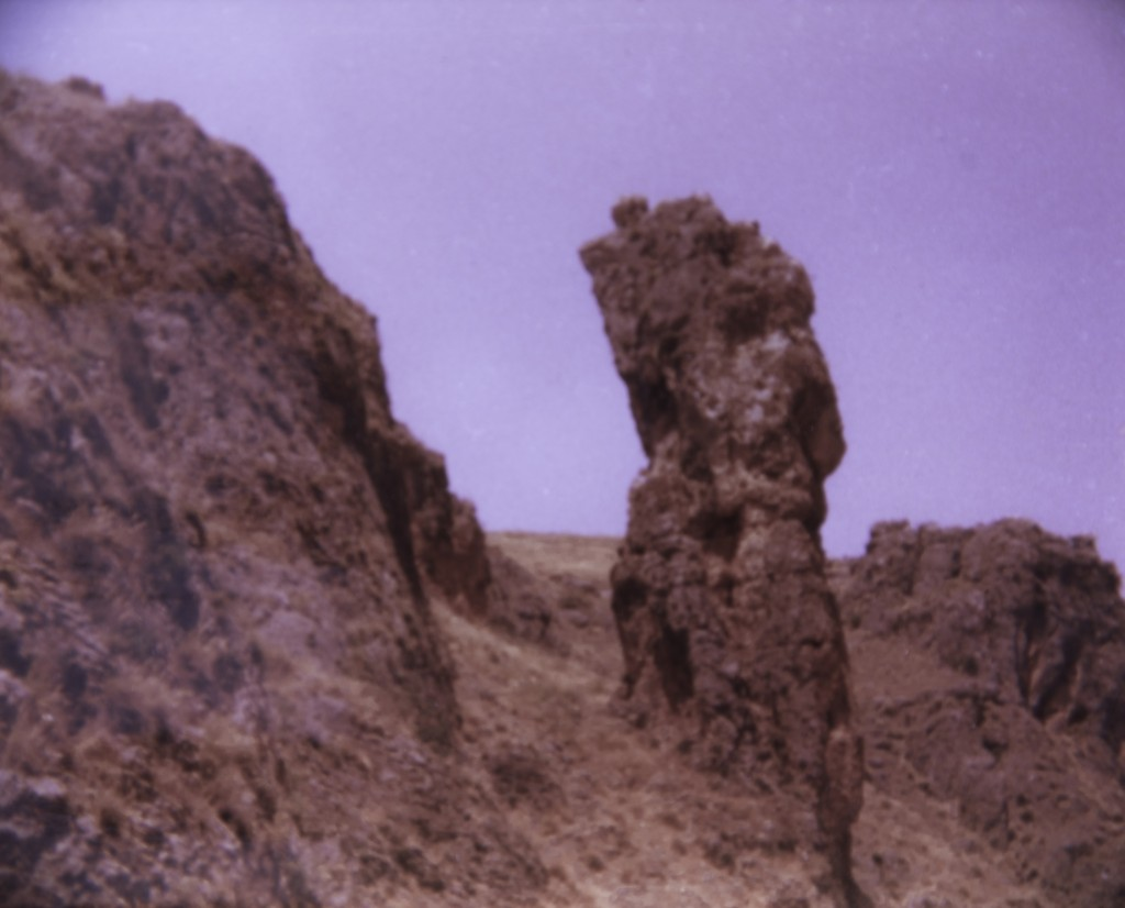 """The eponymous """"amud"""" (pillar). The one photo I took on that memorable day."""