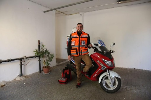 Erlenger with his ambucycle