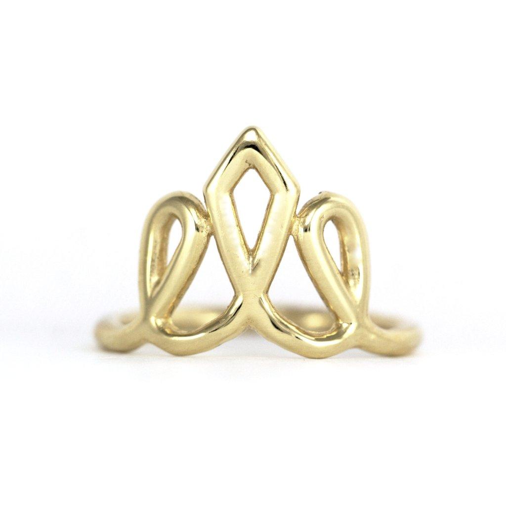 טבעת כתר זהב 1700 שח