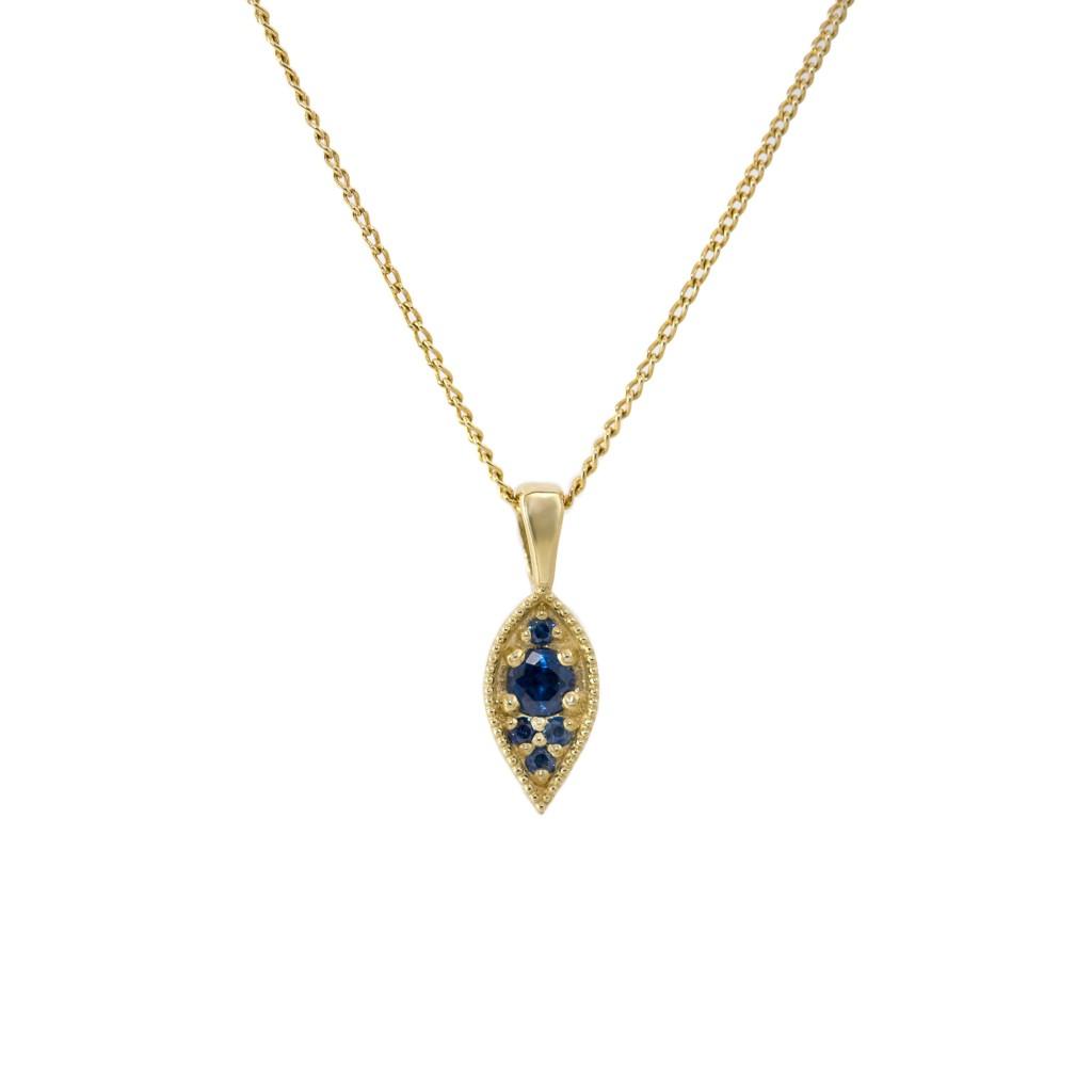 שרשרת ג'יין 1890 שח זהב וספירים