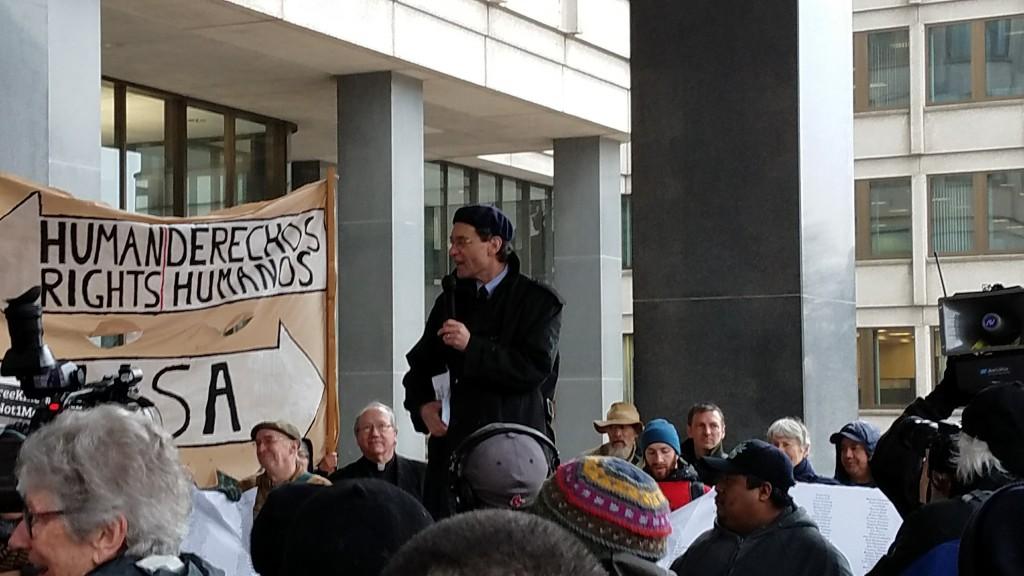 RabbiReinsteinSpeaking at Rally 3-27-17