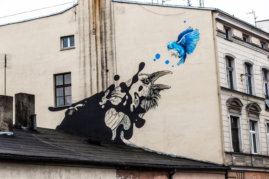 """""""The Black Raven"""" located in Lodz at ul. Żeromskiego 31. Designed by Małgorzata Wysocka. Photo by Kamil Holwek."""