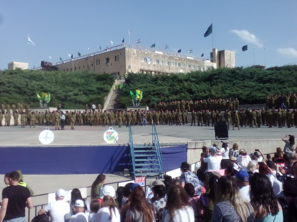 My daughter's ceremony at the foot of the Latrun fortress