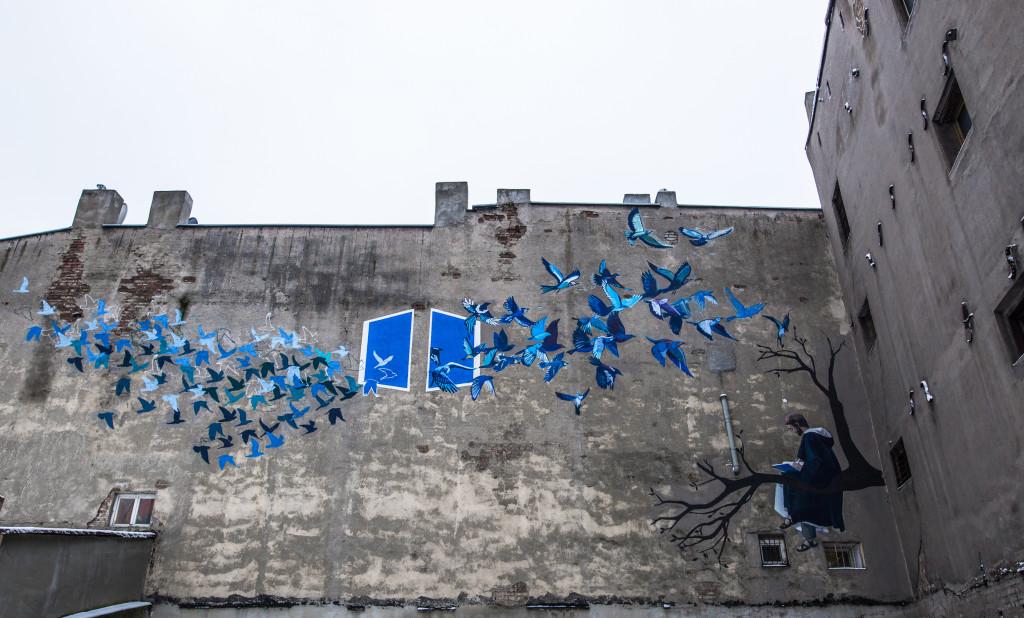 """Comtemplation,"" located at ul. Wólczańska 27 in Lodz. Designed by Paulina Nawrot. Photo by Kamil Holwek."