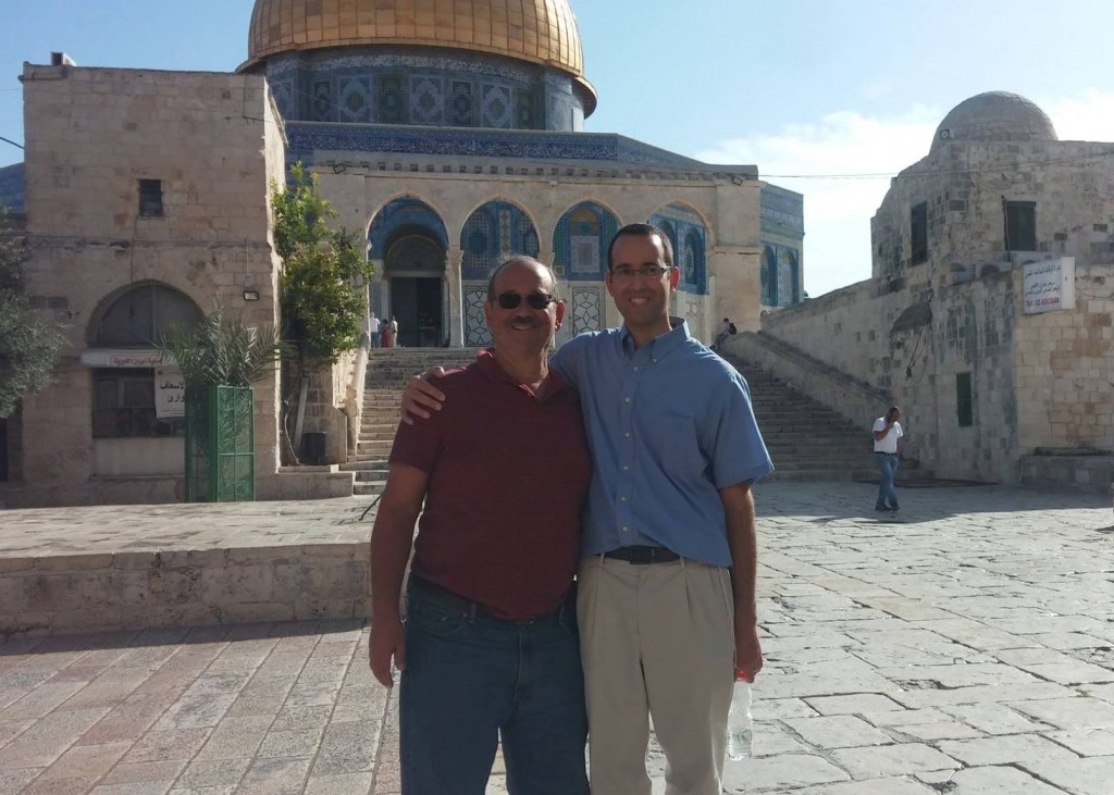 The author and his father @ the Temple Mount