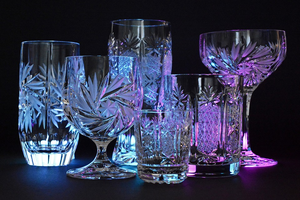 Crystal Illuminated Crystal Glasses Glass