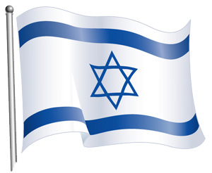 graphic of Flag of Israel