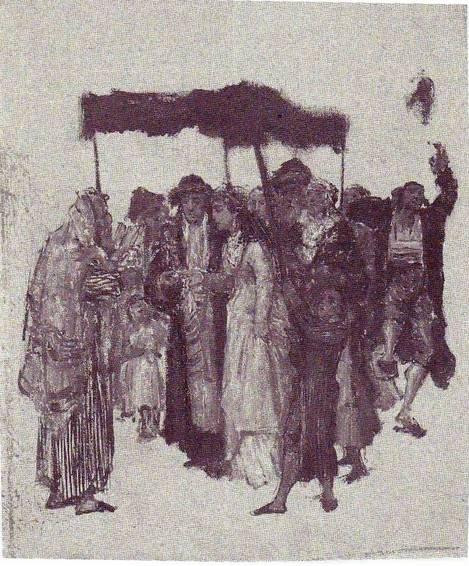 Gottlieb-Jewish_Wedding_sketch