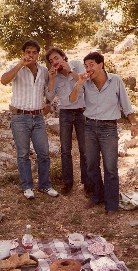 In Lebanon in the early 1980's with two friends – I am the one in the middle