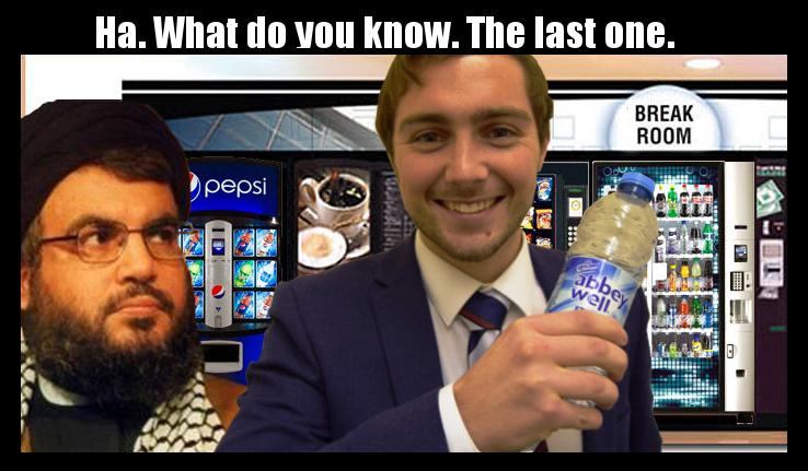 Guy Takes Last Bottle Of Water Meme