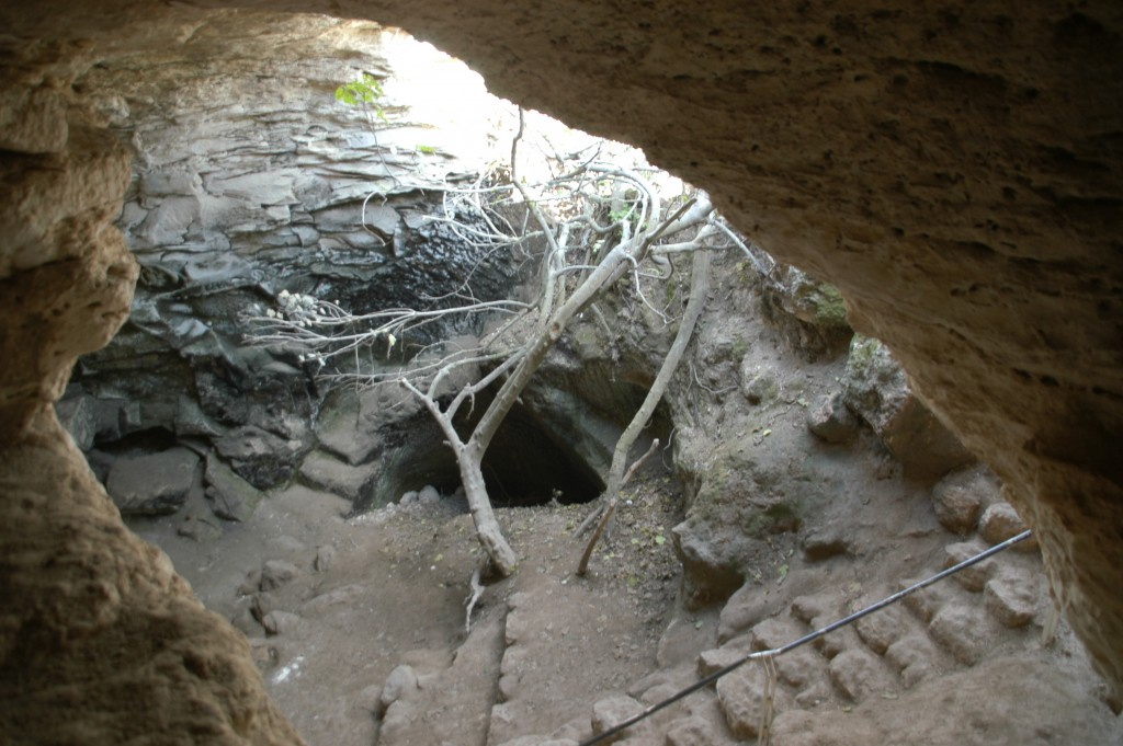 The entrance to one of hundreds of underground cave networks used in the revolt led by Bar Koseba. Image from Wikipedia.