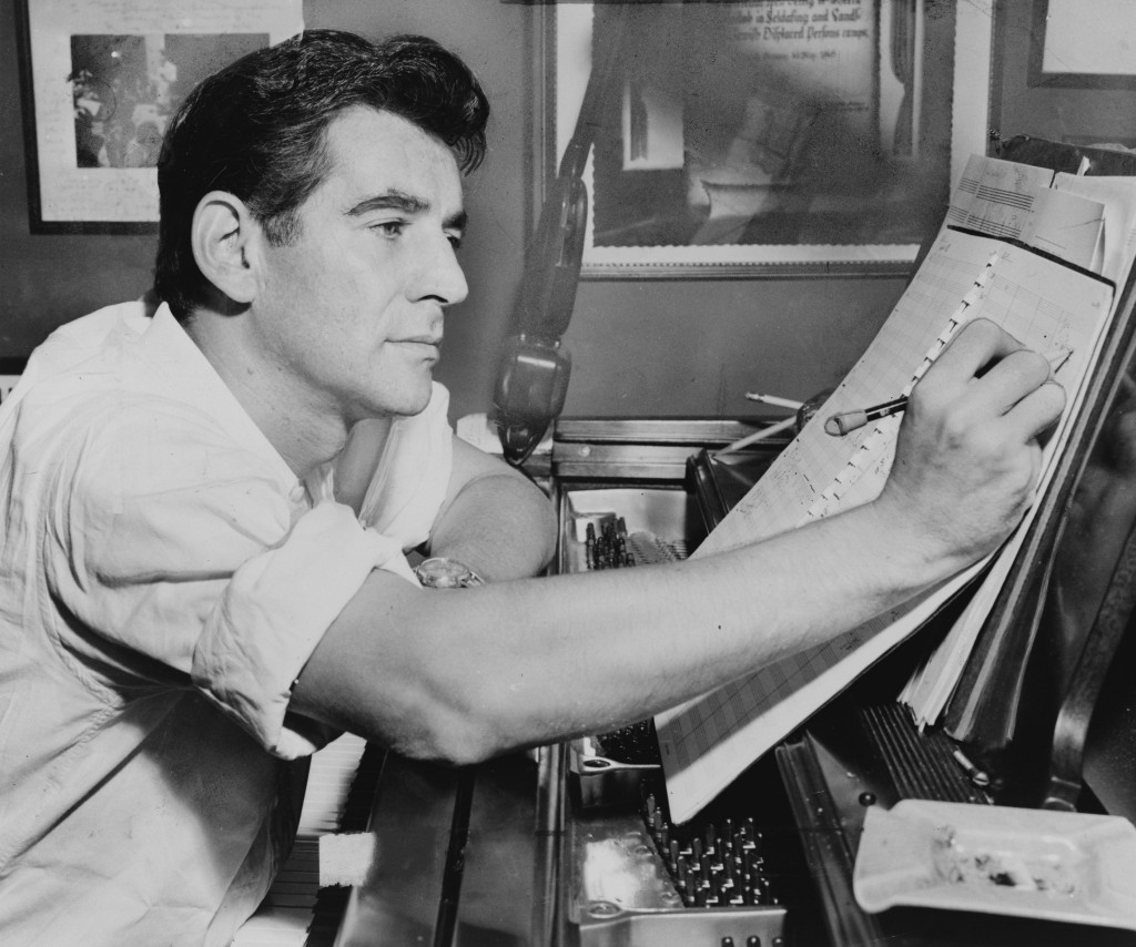 Leonard Bernstein in the 1950s (Wikimedia)