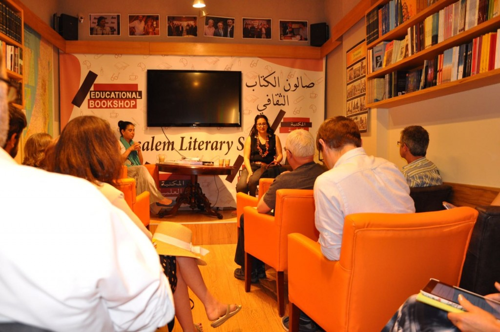 Speakers from Women Wage Peace at the Educational Bookshop, East Jerusalem. Credit Brian Jolly