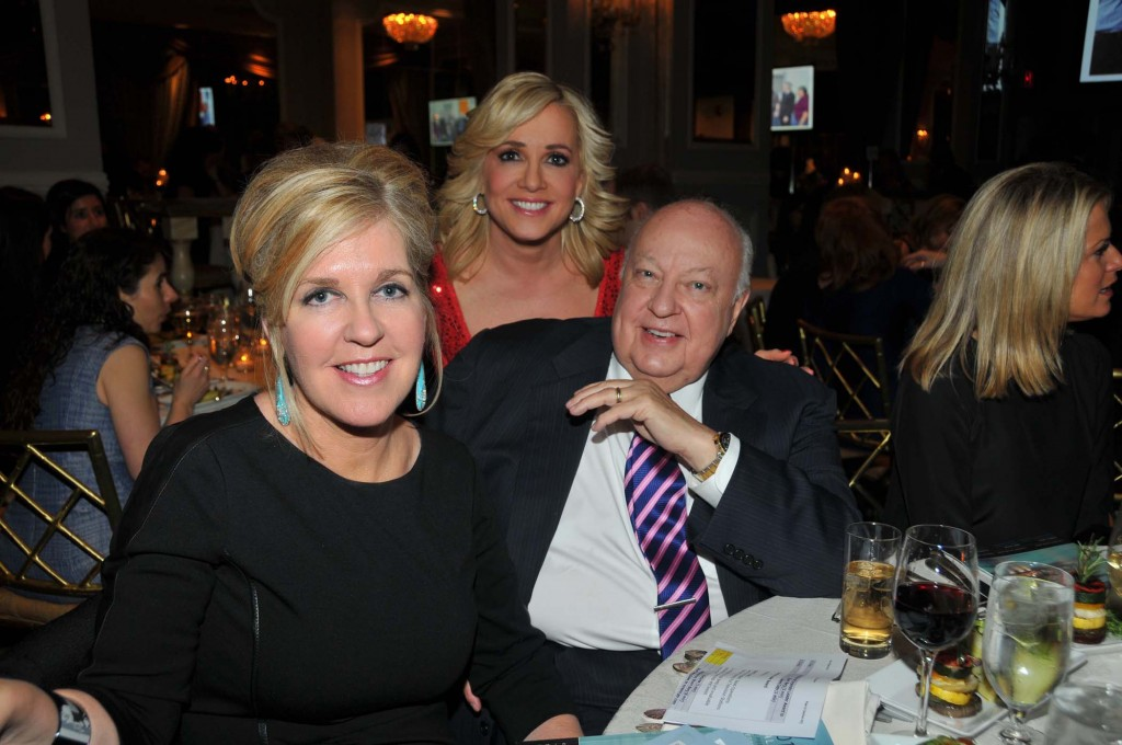 Roger Ailes and his wife Elizabeth with Jamie Colby (center), Fox News Channel anchor. Photo by Tim Boxer