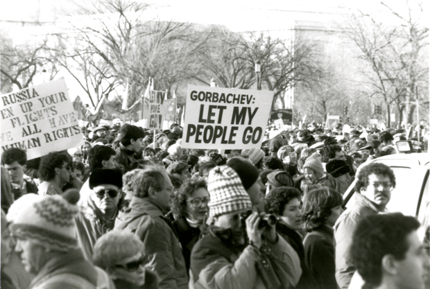 Photo from Soviet Freedome March Dec 1987 from American Jewish Historical Society