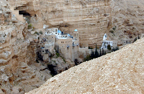 photo of cliff-hanging Monastery of St. George of Choziba