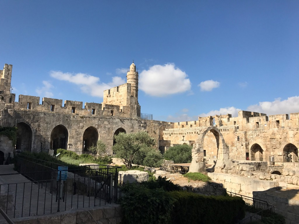 Morning at the Tower of David Museum