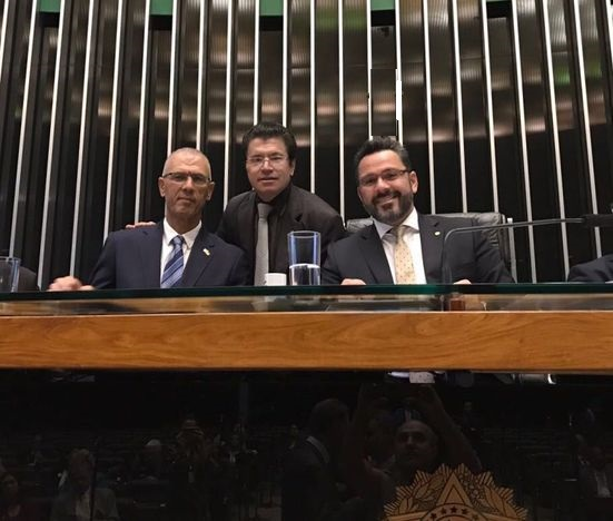Embassador Shelley (left), Victório Galli (center) e Alan Rick (right)