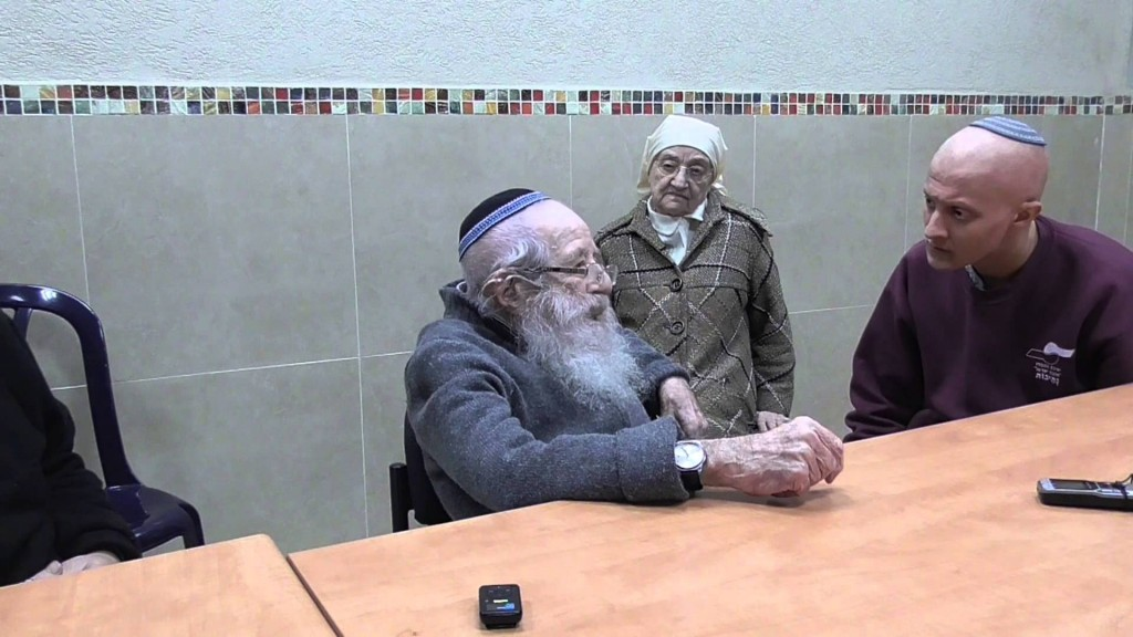 """Rabbi Yisrael Friedman Ben-Shalom, also known as the """"Pashkan Rebbe"""", in Gilo, Jerusalem, where he inspired ultra-orthodox, zionist-orthodox, and secular Jews of all ages. (photo: YouTube)"""