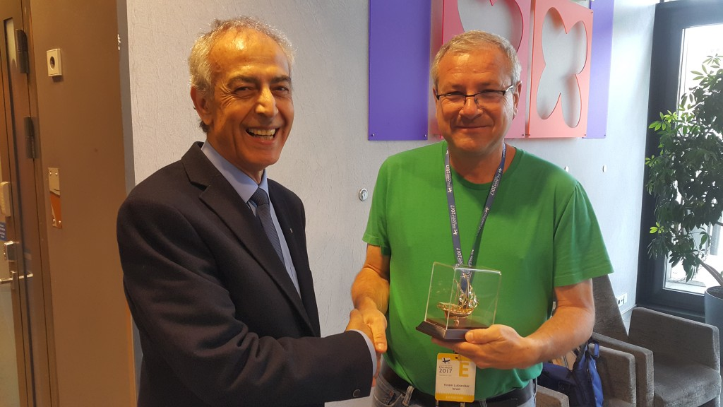 Fig 9. Yoram Lubianiker with Nicos Rangos Special Prize
