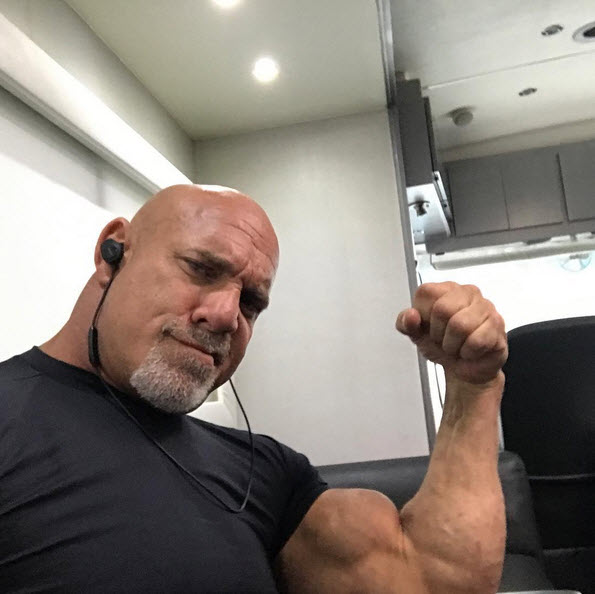 Goldberg during a recent DirecTV Commercial shoot Photo Credit: Instagram Goldberg95