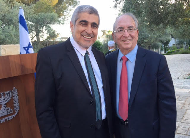 Kadi Samara and Rabbi Kronish at Bet Hanasi, June 12, 2017